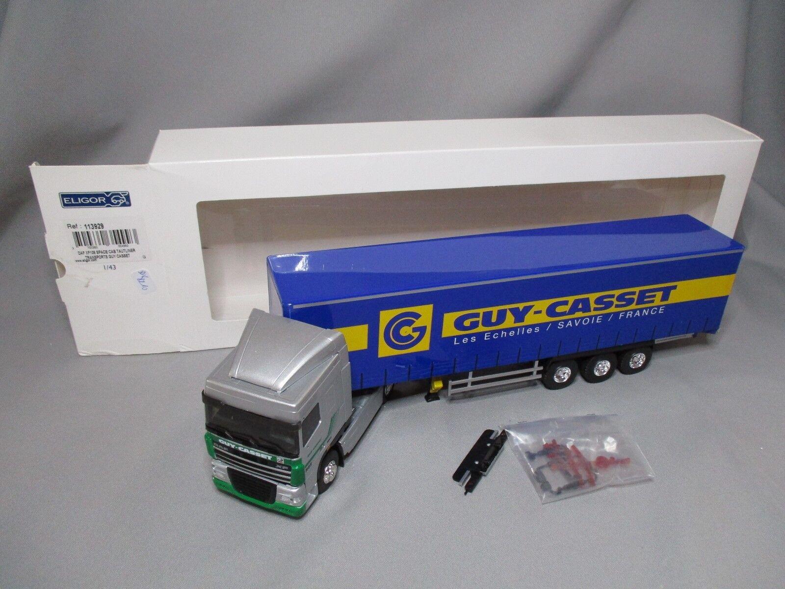 Eligor 1 43 daf dv8210 xf105 space cab semi fridge guy casset 113929