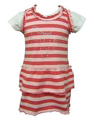 Kids Clothes Girls Funky Diva Striped Dress & T-Shirt Set 1 2 3 4 5 6 7 Years
