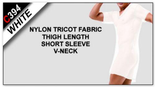 C394 V-Neck Mens Short Sleeve Thigh Length Night Shirt