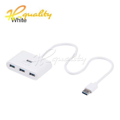 Splitter USB Hub 4 Ports Adapter USB 3.0 For Macbook Laptop PC Computer HDD