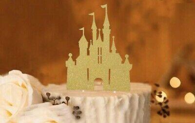 Surprising Gold Disney Castle Happy Birthday Cake Topper Princess Castle Ebay Funny Birthday Cards Online Fluifree Goldxyz