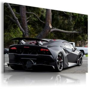 Lamborghini Centenario Black Sport Cars Large Wall Art Canvas Au516