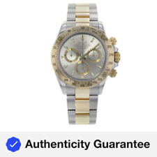 Rolex Daytona 18K Yellow Gold Steel Grey Dial Automatic Mens Watch 116523