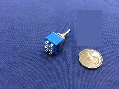 5x waterproof Blue On Off On Momentary Mini Toggle Switch 1//4 3A 250V 6A 125V C8