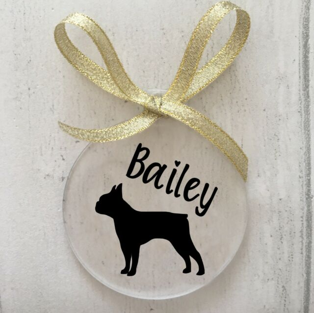 Boston Terrier Dog Christmas Tree Bauble Decoration Gift AD-BT8CB