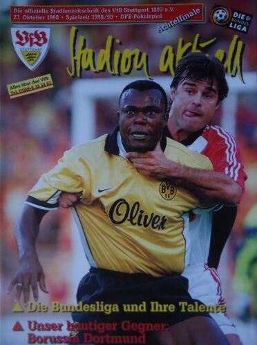 Borussia Dortmund Programm Pokal 1998//99 VfB Stuttgart