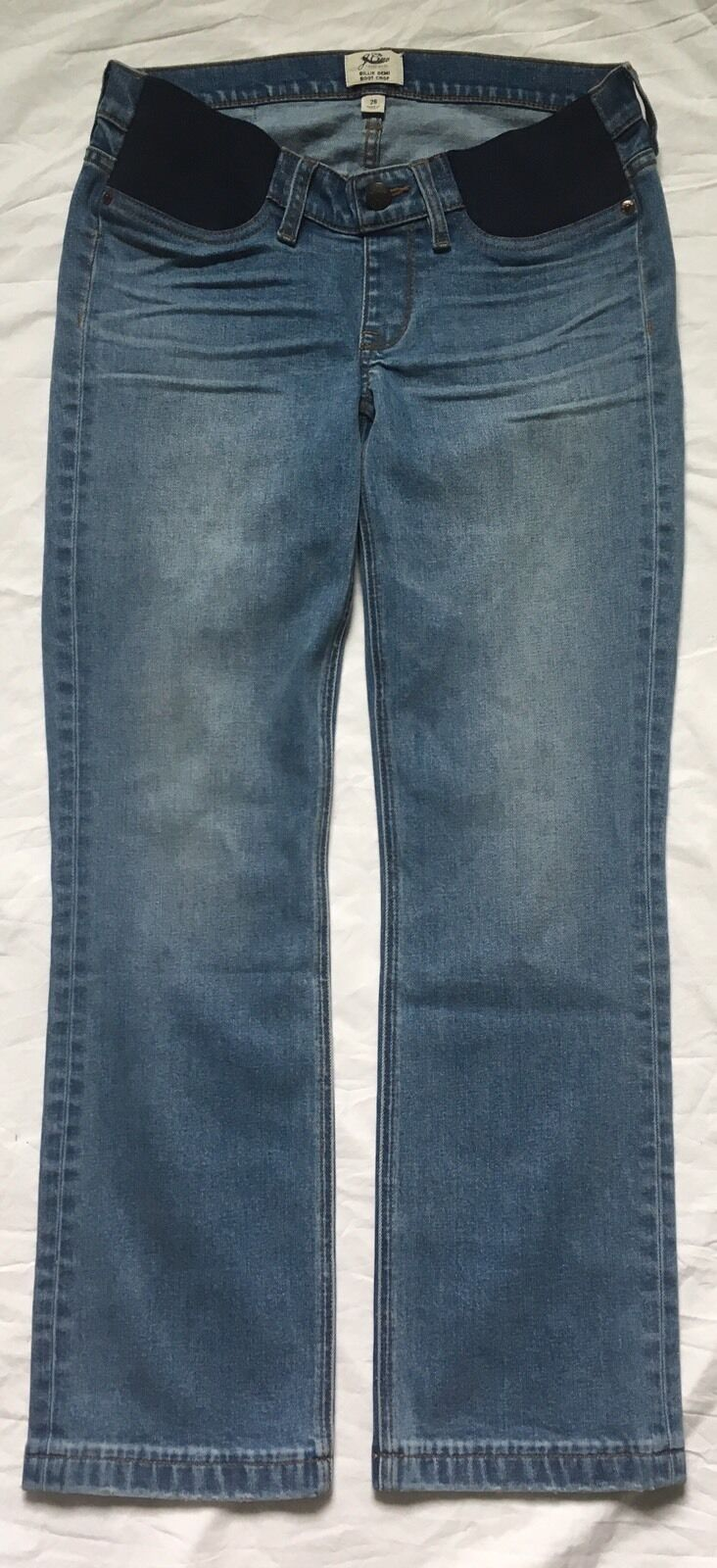 JCrew Strait Billie Demi Boot Crop Jeans Maternity Size 28