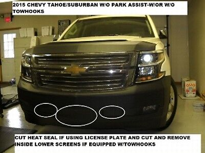 Lebra Front End Mask Bra Fits Ford Fusion 2017-2018 17  18 Without Park Assist