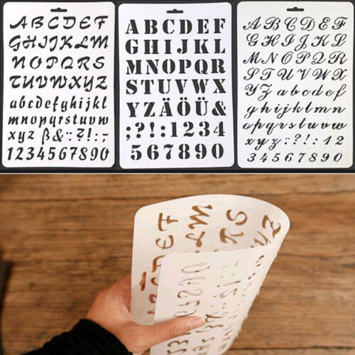 4Type Letter Alphabet Number Layering Stencils Painting Scrapbooking Paper Cards