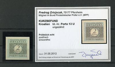 Starke Verpackung 128025 Kroatien-porto Nr.13 U ** UngezÄhnt Farbbefund Zrinjscak Bpp