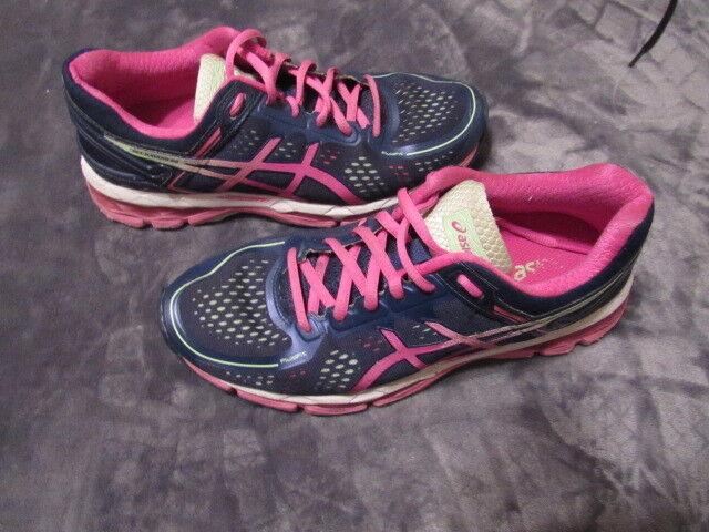 WOMENS ASICS GEL KAYANO 22 RUNNING SHOES SIZE 8.5 GOOD SHAPE