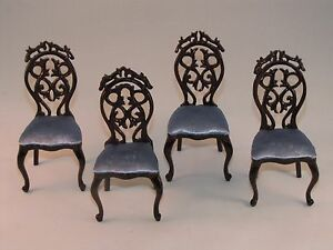 dollhouse beautiful fancy dining room chairs miniatu re furniture 1 12