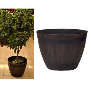 1PCS Large Tree Basin Wooden Imitation Extra Bonsai Outdoor Plants Pot