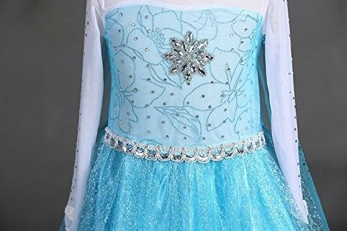 SweetNicole Snow Queen Elsa Princess Party Dress Costume with Accessories