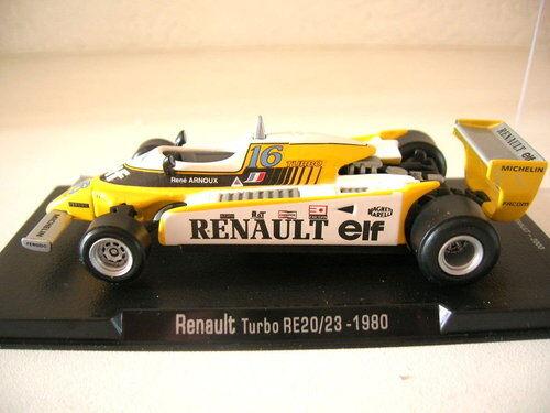 RBA Fórmula 1 RENAULT turbe RE20 23 RENÉ ARNOUX 1980 , 1 43