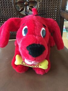 Clifford the Big Red Dog Plush Toy Barks/Barking Move Tail Tongue