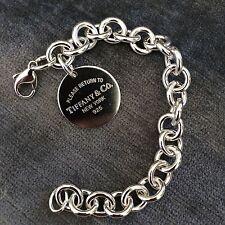 Return to Tiffany & Co Round Circle Tag Charm Bracelet