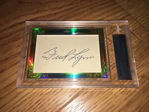 Fred-Lynn-2015-Leaf-Masterpiece-Cut-Signature-autographed-signed-card-1-1-JSA