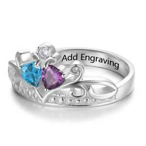 Crown-Custom-Ring-For-Friends-Birthstone-Name-Personalized-Rings-Party-Xmas-Gift