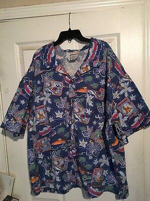 Disney character Hawaiian shirt xxl
