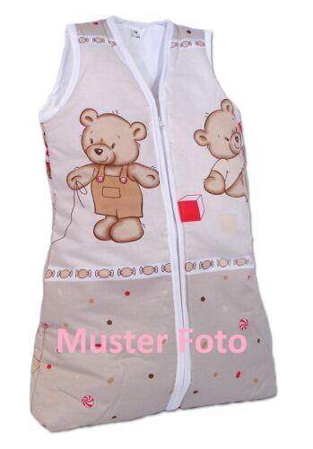 Babyschlafsack Kinderschlafsack ohne Ärmel mit Reißverschluß 110cm Bär