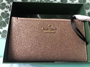 Kate Spade Wallet Purse Rose Gold Glitter Limited Edition BNWT Genuine