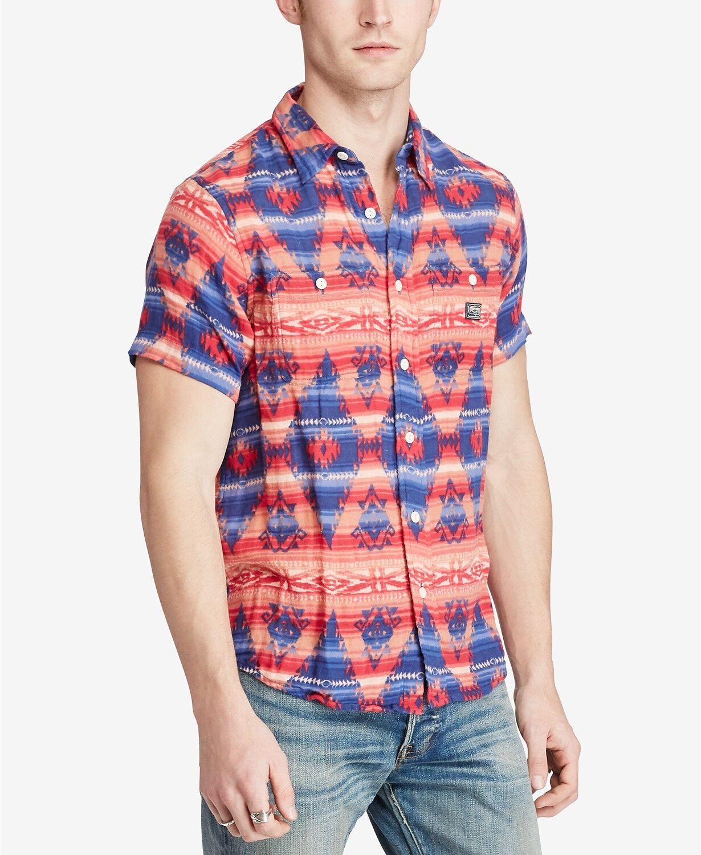 Polo Ralph Lauren Denim & Supply Mens Southwest Short Sleeve Button Down Shirt