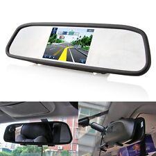 "4.3"" Screen TFT Car LCD Rear View Rearview DVD Mirror Monitor Backup Camera NEW"