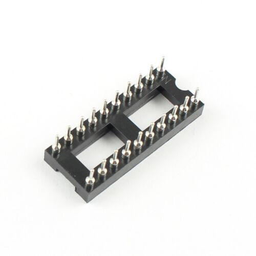 20Pcs 2.54mm Pitch 20 Pin DIP Round Pin Solder IC Socket Adaptor Narrow