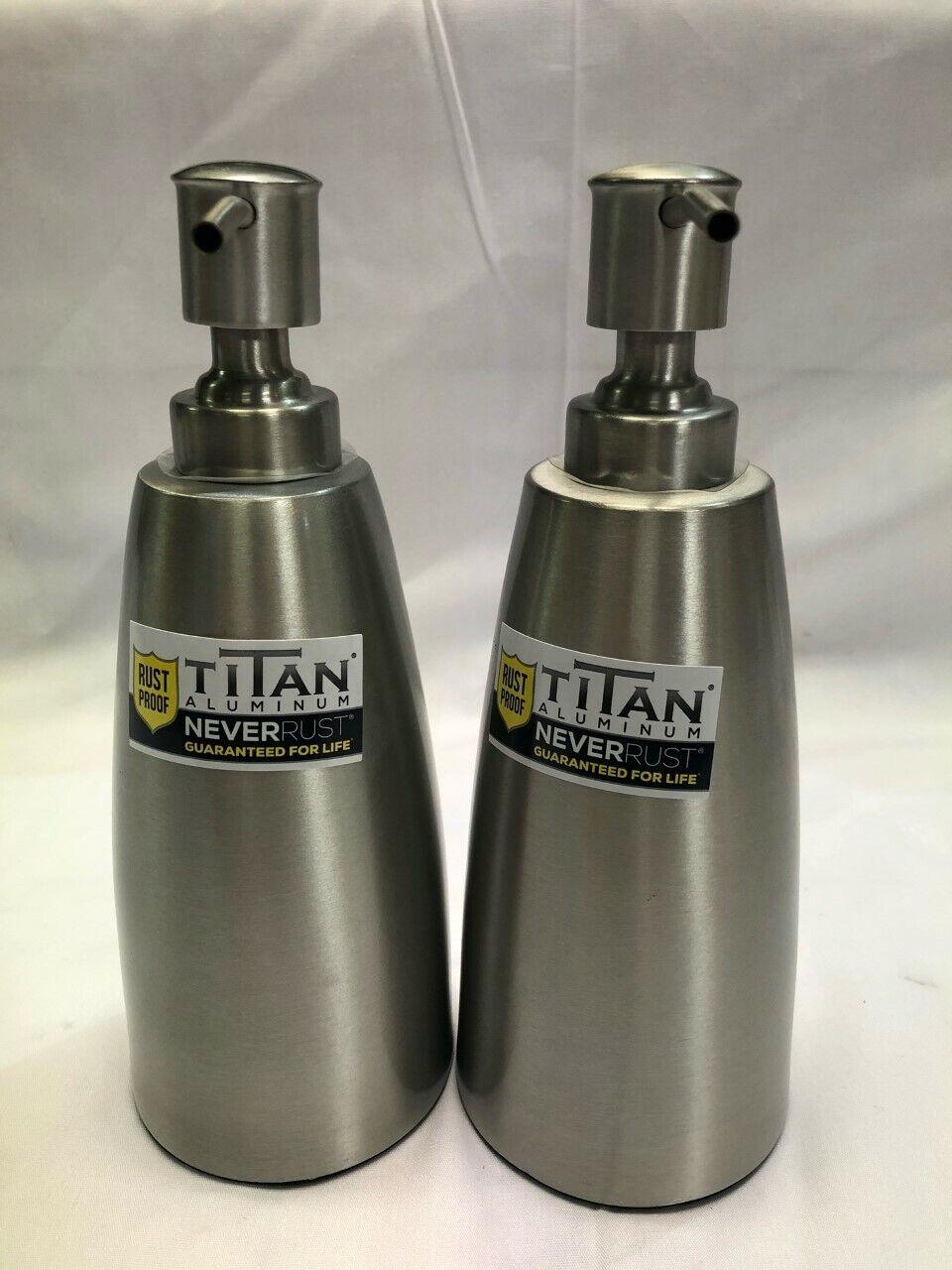 Pack of 2 Titan Meddie Rust Proof Lotion Dispenser, Brushed Nickel