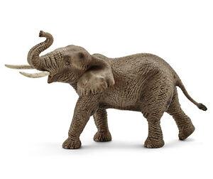 Schleich-14762-African-Elephant-Male-Animal-Model-Toy-Figurine-NIP