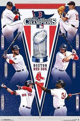 Sport Plakat ~ Boston Red Sox 2013 Costacos Gedenkausgabe World Serie Collage Unterscheidungskraft FüR Seine Traditionellen Eigenschaften Fanartikel