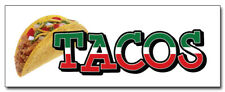 48 Tacos Concession Decal Mexican Cart Trailer Stand Sticker Equipment