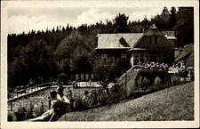 Moravskoslezské Beskydy Mährisch-Schlesische Beskiden CSSR ~1950/60 Schwimmbad