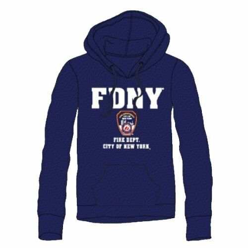 FDNY Hoodie Sweatshirt New York City Fire Department Navy (4xl)