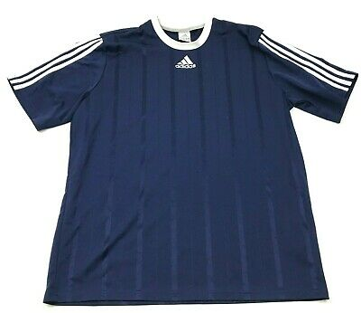 Adidas Shirt Size Large L Blue White Dry Fit Jersey Dry Fit Tee Spell Out Adult   eBay