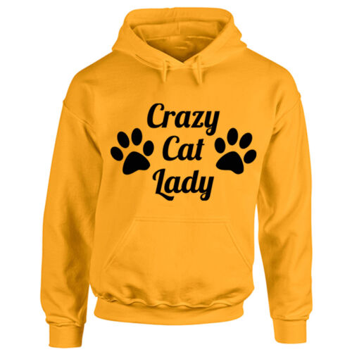 Kitten Pet Lady Animal Lover Adult Hooded Top New Ladies Crazy Cat Hoodie