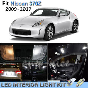 Details about For 2009-2017 Nissan 370Z Luxury White Interior LED Lights  Kit 7 Pieces