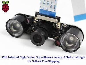 Night-Vision-IR-Surveillance-Camera-2Pcs-3W-Infrared-Light-For-Raspberry-Pi3-2B