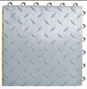 Image Is Loading Sdway Garage Tile Mfg Silver Floor Tiles