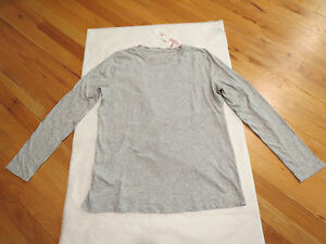 Vineyard Vines Womens LS Crew Neck Slub Tee Gray M or XL $54 Authentic New NWT