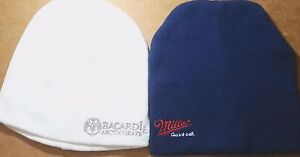 Cotton-Acrylic-Beanie-Hat-Cap-Miller-Beer-Good-Call-Bacardi-Arctic-Grape-Rum
