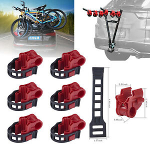 6PCS Car Bicycle Stand SUV Vehicle Trunk Mount Bike Stand Storage Carrier Red