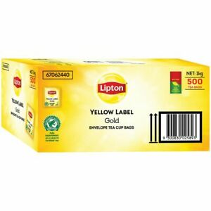 LIPTON Yellow Label Envelope Tea Cup Bags 500 Pack