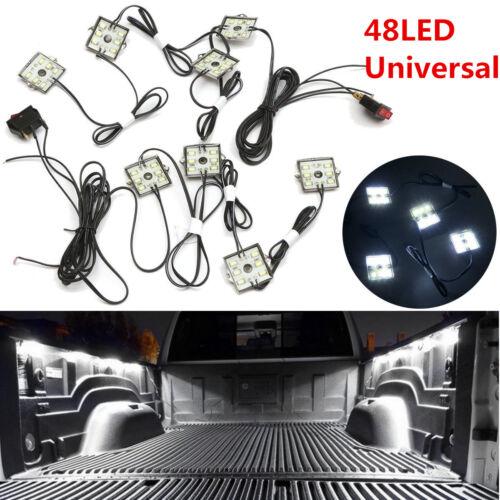 8Pcs Super White LED Truck Bed Lighting Light Kit For Chevy GMC Dodge Ram Pickup
