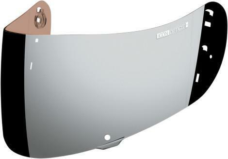 Chrome Mirror ICON Optics Genuine Anti-Fog Shield//Visor for Airmada Helmet