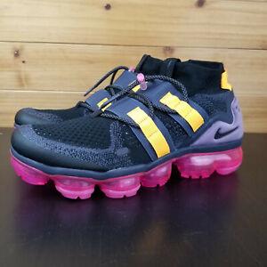 cff96513702 Nike Air Vapormax FK Flyknit Utility Black Gridiron Pink Men s Shoes ...