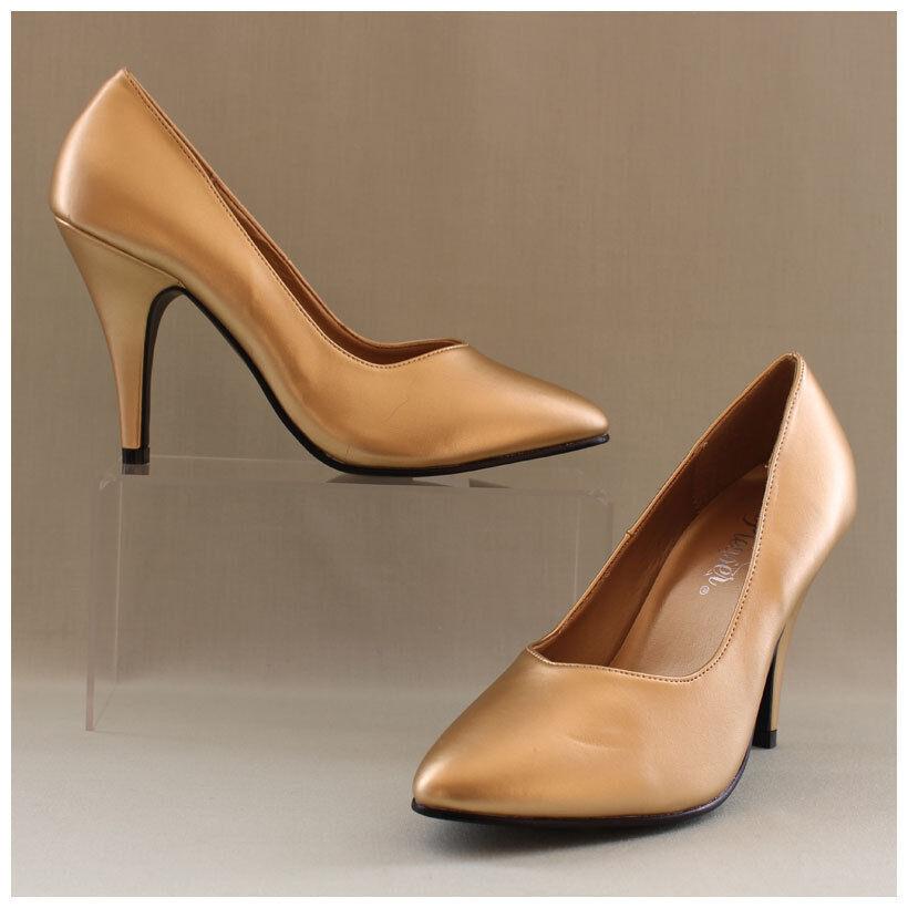 Pleaser Pumps Gr. 38 / US 8 High Heels Dream 420 goldfarben (#2119)