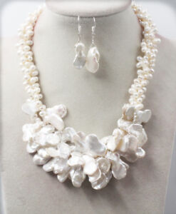 Wedding-3-rows-June-Pearl-Baroque-White-keshi-reborn-Pearl-Necklace-Set-L-48cm