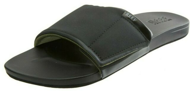 Reef Mens Cushion Bounce Slide Black Size 12